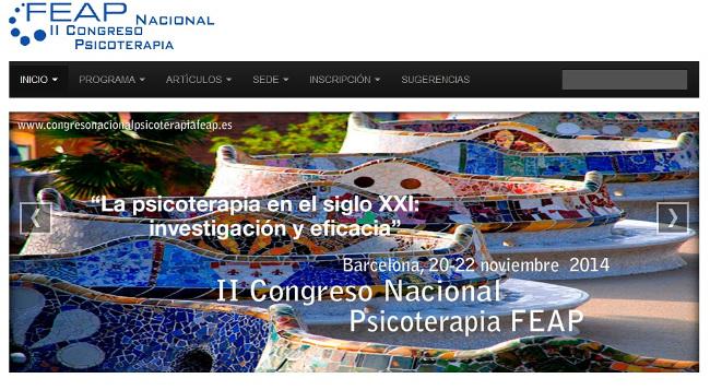 II Congreso nacional psicoterapia  FEAP