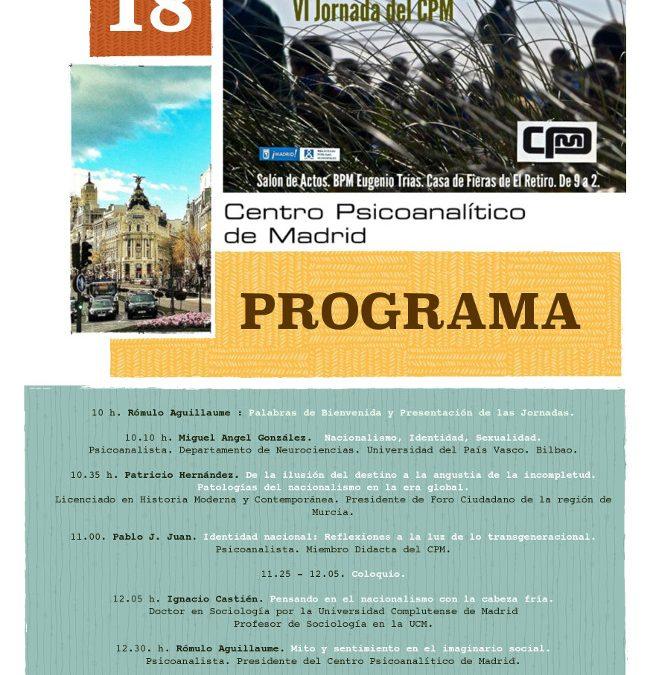 VI Jornada del CPM, Madrid 2014