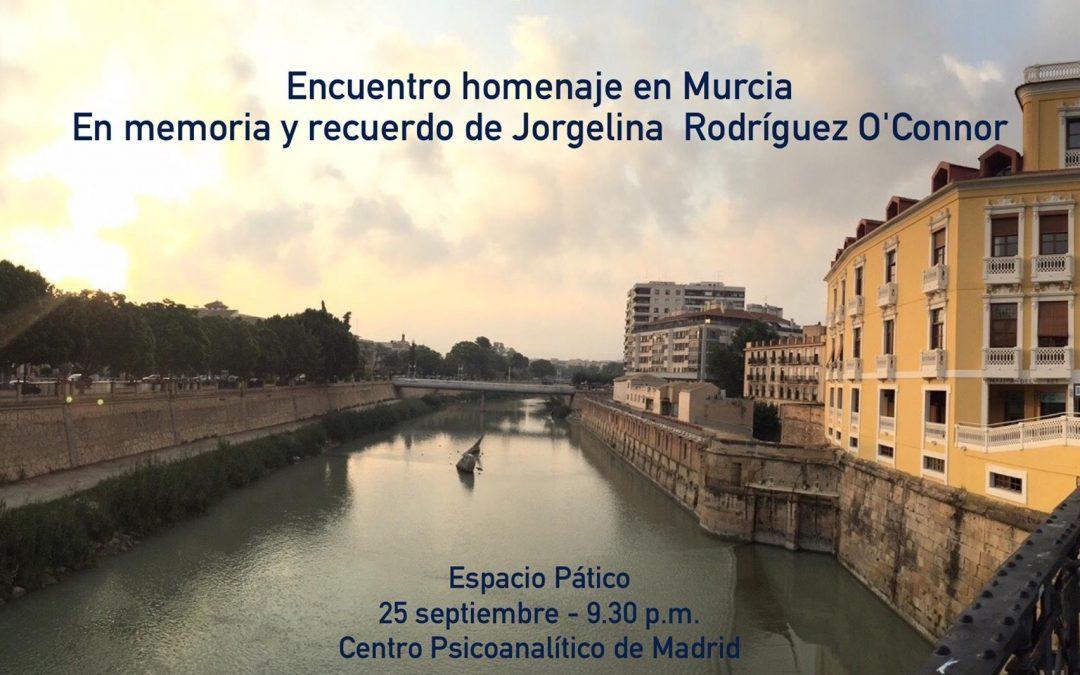 Encuentro homenaje en recuerdo de Jorgelina en Murcia