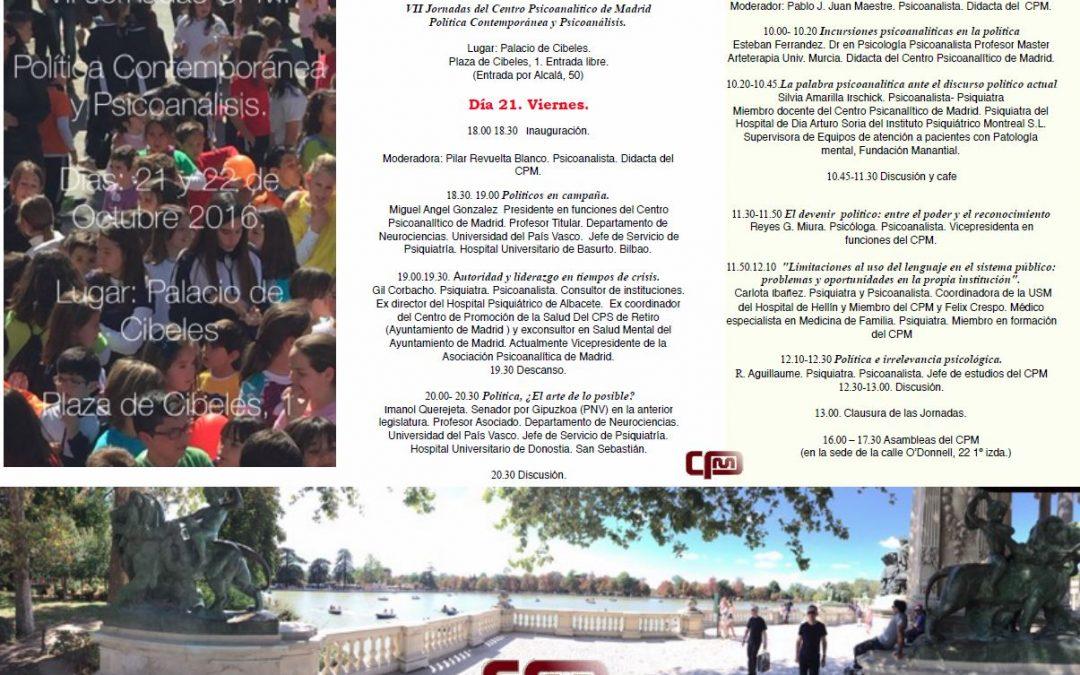 VII Jornadas CPM, Octubre 2016