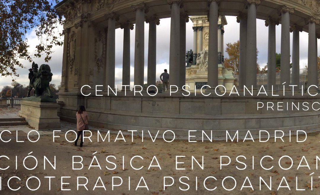 Formación Básica en Psicoanálisis y Psicoterapia Psicoanalítica 2018/2020