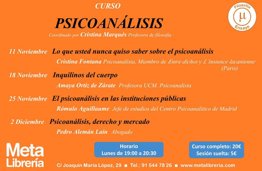 Curso de Psicoanálisis