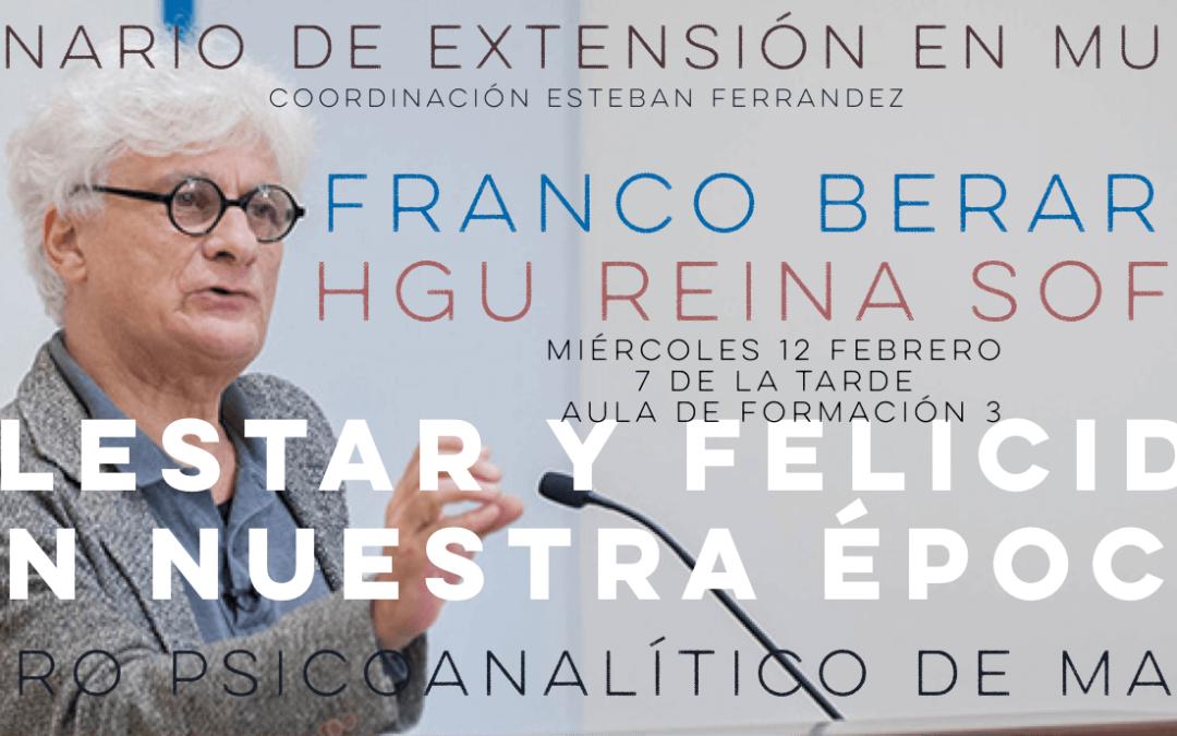 Seminario de extensión en Murcia: Malestar y felicidad en nuestra época