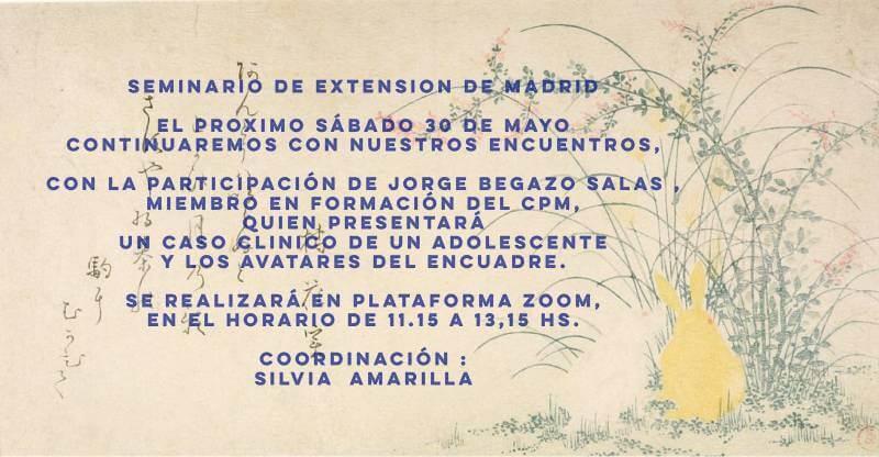 Seminario de Extensión de Madrid (por Zoom), con Jorge Begazo Salas