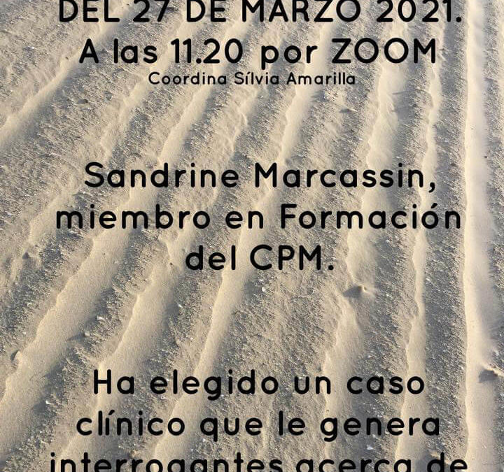 Seminario de extensión de Madrid. Marzo 2021