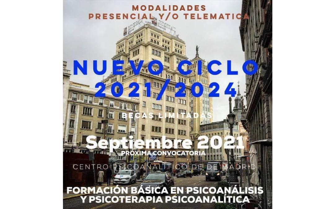 Ciclo formativo 2021-2024