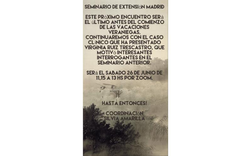 Seminario de extensión en Madrid – junio 2021