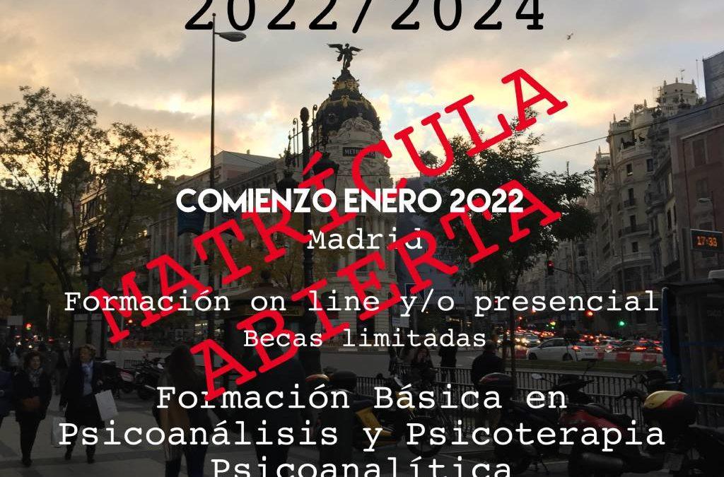 Ciclo formativo 2022-2024 (Madrid)
